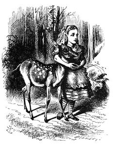 Lewis Carroll: Alice in Wonderland & Alice Through the Looking Glass - classic illustration by John Tenniel.