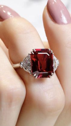 Gift For Her Solid 925 Silver Minimalist Ring Natural Red Garnet Ring Everyday Wear Anniversary Ring Zircon Accented Promise Ring Band