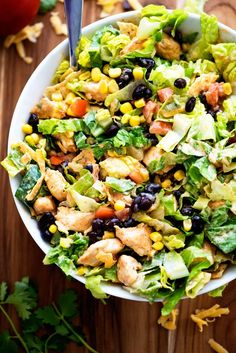Behold my friends- Tex-Mex Chicken Chopped Salad. AKA. my lunch at least twice a week for the past few months (lol) because I LOVE it so much. I can't say enough good things about this salad. It is so comforting, pretty healthy if you ask me, and out of this world delicious! This Tex-Mex salad contains …