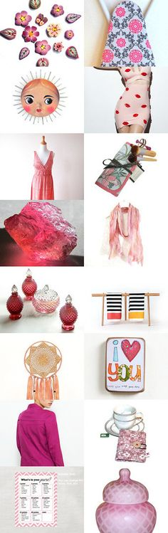 Pink touch by LaurenceCollection on Etsy--Pinned with TreasuryPin.com