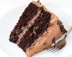 The Best Chocolate Cake. The Best Chocolate Cake with Creamy Chocolate Buttercream Frosting! The perfect cake for parties birthdays or just because! Amazing Chocolate Cake Recipe, Best Chocolate Cake, Chocolate Chip Cookie Dough, Chocolate Recipes, Chocolate Oreo, Oreo Cream, Cream Cake, Berry Smoothie With Yogurt, Mousse Au Chocolat Torte