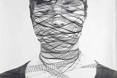 Annegret Soltau Creates Delicate Line Drawings On Her Face...