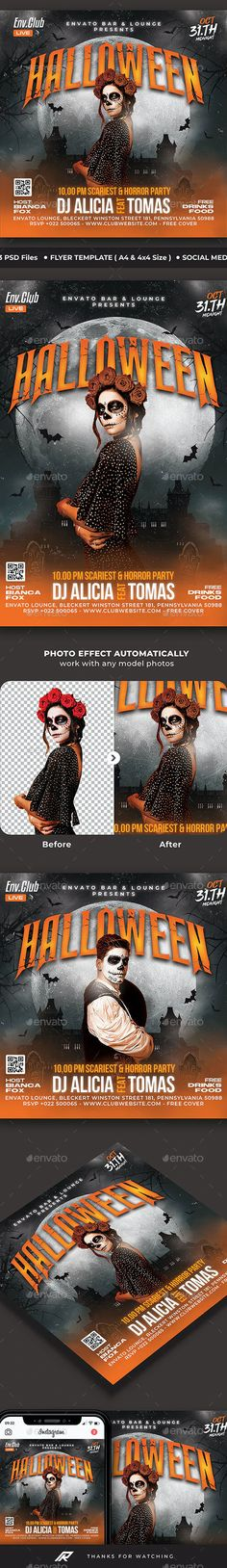 Halloween Flyer by Rhends   GraphicRiver