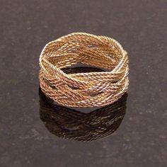 14k Gold Wire Ring Celtic Trebled Turk's Head by CelticMysterium