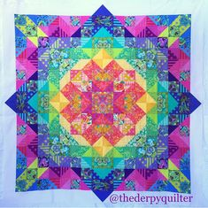 Tied with a Ribbon: Aurora Quilt Sew-Along Week 8 Lap Quilts, Scrappy Quilts, Small Quilts, Mini Quilts, Bright Quilts, Colorful Quilts, Quilting Projects, Quilting Designs, Quilting Ideas