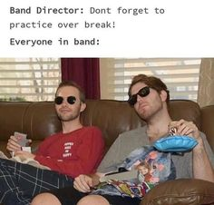 Yeah no. That's not happening Funny Band Memes, Marching Band Memes, Band Jokes, Stupid Memes, Funny Relatable Memes, Stupid Funny, Haha Funny, Funny Posts, Hilarious