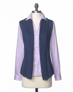 Relaxed sweater vest