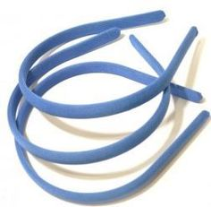 Tiara forrada  Média Azul Turquesa - Pct com 3