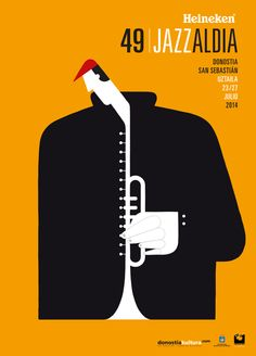 Jazz Poster by martin leon barreto, via Behance