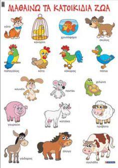 Greek Language, Speech And Language, Learn Greek, Animal Categories, Educational Crafts, Preschool Education, Autumn Activities, Animal Crafts, In Kindergarten