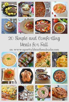 20 Easy Fall Meals {A Pretty Life}