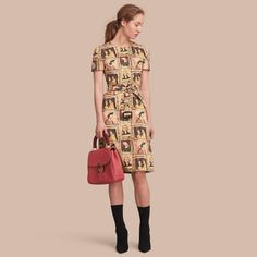 A shift dress in cotton featuring a print taken from Henry Moore's drawing 'Framed Heads' 1943. The lightweight design is complete with a belt, which can be fastened using the buckle or tied to cinch the waist. Dress length: 105cm/41.3in. This is based on a size UK 8 as proportions change slightly according to size.   #Burberry #Dresses #fashionwear #fashionwoman #fashionaddicts #fashionmodels #fashionpic #fashionaccount #fashionguru #fashionpeople #fashionday #fashionnova