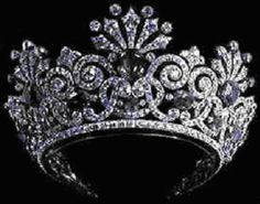 Sapphire ans Diamond tiara - Russian Crown Jewels...I would make this look good!