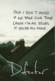 My absolute favorite song by Defeater.