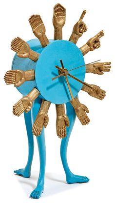 Lot 89, Pedro Friedeberg, Three Leg Table Clock, $3,000 - $5,000, Image Courtesy LAMA