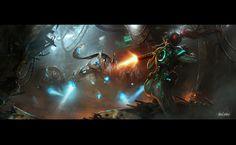 Kerrigan batalla contra Protos High Templar