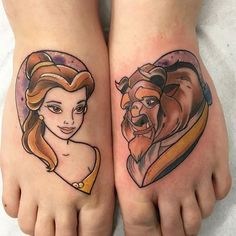 51 Beauty and the Beast Tattoos – CherryCherryBeauty Beauty And Beast Wedding, Disney Beauty And The Beast, Couple Tattoos, Love Tattoos, Tatoos, Family Tattoos, Pretty Tattoos, Creative Tattoos, Unique Tattoos