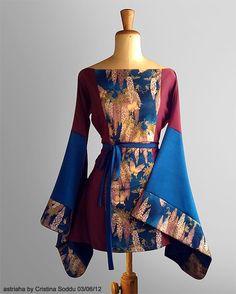 Custom #Kimori based on #kimono & #haori | Italian stylist #astriaha | Fabric #Hoffman California Fabrics