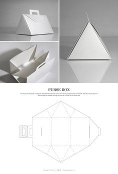 Purse Box – FREE resource for structural packaging design dielines