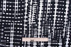Mood Fabrics : New York Fashion Designer Discount Fabric | 302277 Black Geometric Italian Knit