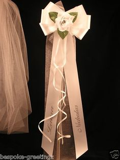 10 BEAUTIFUL  PEW ENDS - WEDDING BOWS  -  PERSONALIZED