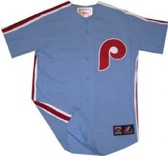 Philadelphia Phillies Throwback Vintage Blue Replica Majestic Jersey --- http://www.pinterest.com.gp1.me/44s