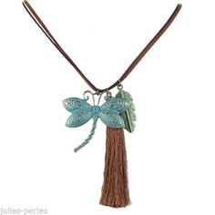 JP Occident Retro National Butterfly Leaf Long Tassels Sweater Chain Necklace