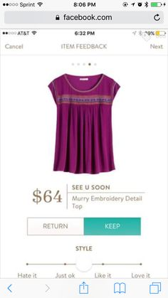 Love the color and the top third of this shirt. It may be too tenty/flowy for my tastes in reality though.