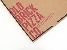 Old Brick Pizza Co. by Keith Davie, via Behance