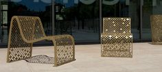 Steel lounge chair / outdoor / for public areas - ELINIUM© by Jean-Michel Wilmotte - CYRIA