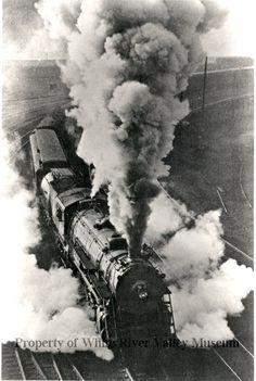 Silk trains rushed from Seattle to the eastern U.S. , through Auburn to deliver the delicate raw silk. Engine pictured is the Great Northern's #2517 leaving St. Paul, MN on a passenger run.