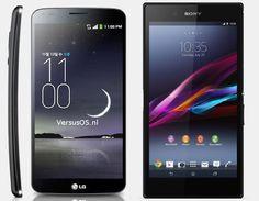 Vergelijking LG G Flex vs Sony Xperia Z Ultra | Versus OS