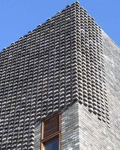 Facade Tetris: The Luminous And Textured Potential of Brick - Architizer Brick Design, Facade Design, Exterior Design, Brick Masonry, Brick Facade, Brick Wall, Architecture Design, Contemporary Architecture, Concrete Architecture