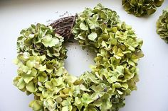 You will need to get started 10 hydrangea stems, a hot gun, wire cutters and a relatively small grape wreath. Description from homedit.com. I searched for this on bing.com/images