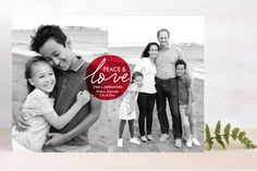 Love and Joy Holiday Photo Cards by chica design at minted.com