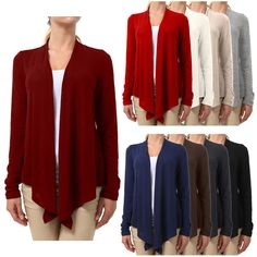 NE PEOPLE Womens Light Weight Buttonless Long Sleeve Flowy Knit Cardigan NEWJ42 #NEPEOPLE #Cardigan #Casual