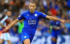 Lataa kuva Islam Slimani, jalkapalloilijat, Premier League, jalkapallo, Leicester City