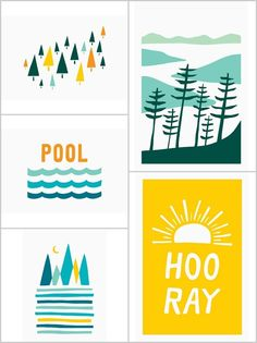 Beautifully designed camp cards from Scouts Honor Paper