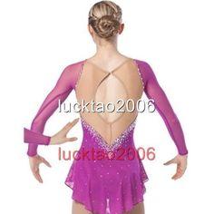 Brand New Figure Skating Ice Skating Dress Kid/Adult Costume Sparkle 8864