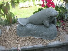 Manatee Cast Solid in Concrete by springhillstudio on Etsy