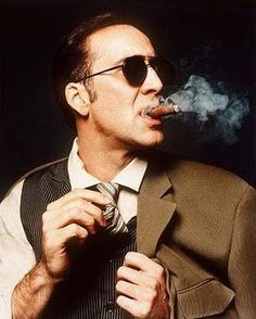 Nicolas Kim Coppola, known as Nicolas Cage People Smoking, Man Smoking, Cigar Smoking, Smoking Room, Smoking Kills, Zigarren Lounges, Nicolas Cage Movies, Famous Cigars, Smoking Celebrities