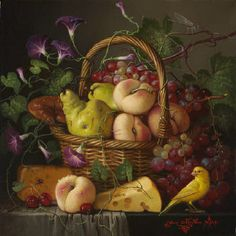 Yana Movchan Still Life with Fruit and Cheese