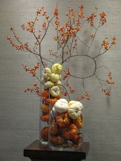 Autumn Decorations are simple and affordable. If you don't have natural bittersweet you can always us artificial.