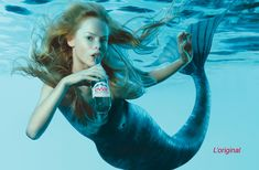 Pure Water Evian advertising Mermaid pic on Design You Trust