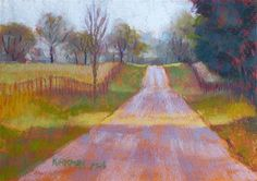 """""""Road Sketch No. - Original Fine Art for Sale - © Rita Kirkman Small Paintings, Landscape Paintings, Landscapes, Need A Vacation, Fine Art Gallery, Art For Sale, Still Life, Paths, Sketch"""
