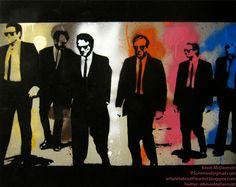 Reservoir Dogs Reservoir Dogs, Dog Mixes, Quentin Tarantino, Mixed Media Canvas, Vintage Movies, Geek Stuff, Fan Art, Pretty, Movie Posters
