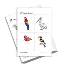 Puzzle 1 - zvířátka v zoo Free Printables, Preschool, Puzzle, Puzzles, Free Printable, Kid Garden, Kindergarten, Preschools, Kindergarten Center Management
