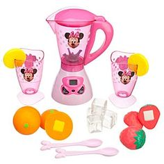 Disney Minnie Mouse Smoothie Play Set | Disney StoreMinnie Mouse Smoothie Play Set - Mix-up a day's worth of fun with Minnie's pretend smoothie blender that really spins when the timer is activated! Featuring 15 play pieces including plastic cups, cubes, spoons and fruit, Minnie's smoothie set creates a refreshing playtime.