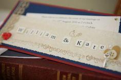 Regal British wedding invitation