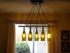 wine bottle chandelier | Wine Bottle Chandelier for Mike by glow828 on Etsy